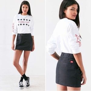 Dickies Urban Outfitters | Black Cargo Mini Skirt